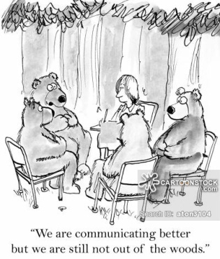 'We are communicating better but we are still not out of woods.'
